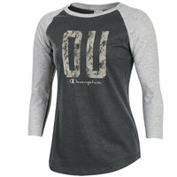 OUKS Champion Women's Baseball Tee