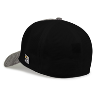 OUKS Cap Black Heather Arrowhead Fitted with Black Mesh Back