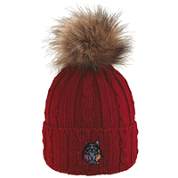 OUAZ Alps Knit Fang Pom Beanie (Available in 2 Colors)
